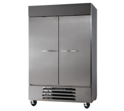 Beverage Air HBF49-1 Bottom Mount Reach-In Freezer w/ 2-Solid Doors, Digital, All Stainless, 49-cu ft