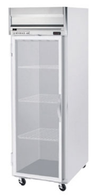 "Beverage Air HR1-1G 26"" Single Section Reach-In Refrigerator, Glass Door, 115v"