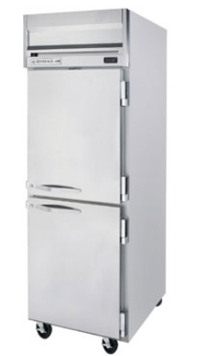 Beverage Air HF1-1HS Freezer, 2-Solid Half Doors, Stainless Front & Aluminum Interior, 24-cu ft