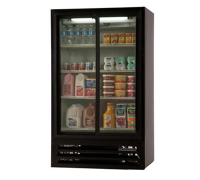 Beverage Air LV17-1-B Refrigerated Display Merchandiser w/ 2-Sliding Doors, Black, 17.5-cu ft