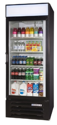 Beverage Air LV23-1-B 1-Section Glass Door Merchandiser, 23 cu ft, Black