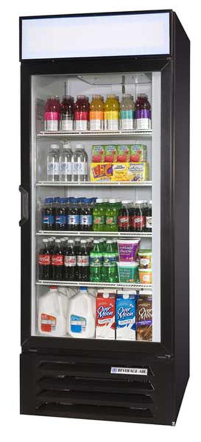"Beverage Air LV27-1-B-LED 30"" One-Section Refrigerated Display w/ Swing Door, Bottom Mount Compressor, 115v"