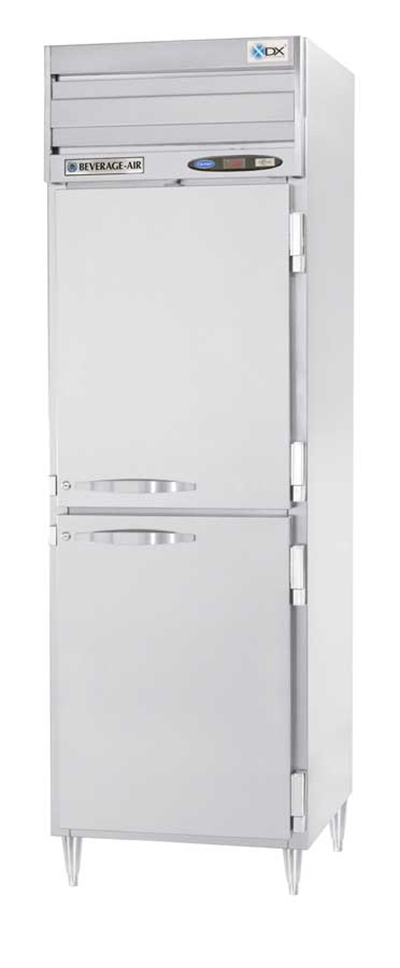 Beverage Air PRF12-12-1HS02 1-Section Reach-In Dual Temperature Refrigerator Freezer, 9.1 cu ft