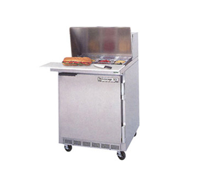 Beverage Air SPE27C-B 27-in Sandwich Top Refrigerated Counter w/ 17-in Cutting Board