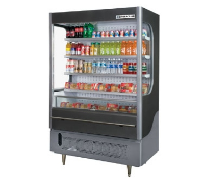 Beverage Air VM18-1-G 51-in Open-Air Merchandiser w/ Night Curtain, 18-cu ft, Gray