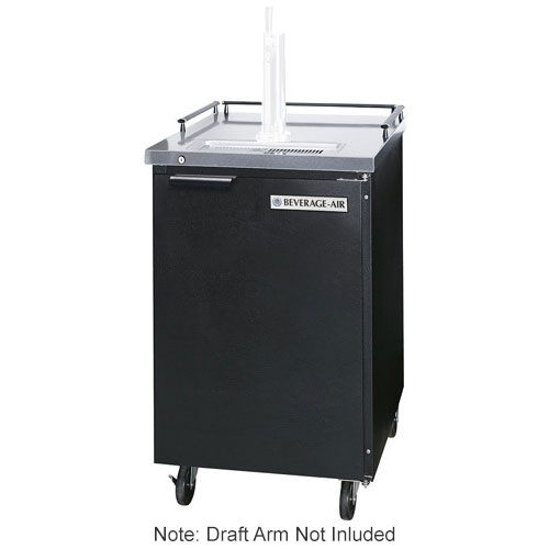 "Beverage Air BM23-B-28 24"" Draft Beer System w/ (1) Keg Capacity - (1) Column, Black, 115v"