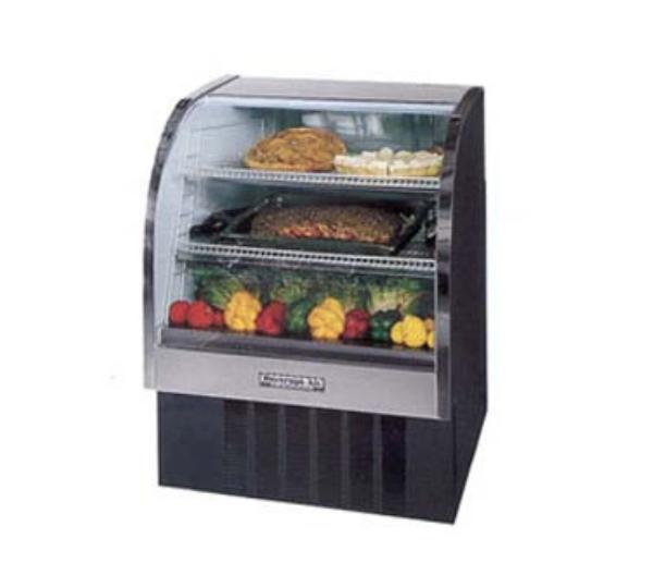 Beverage Air CDR3/1-S-20 37-in Refrigerated Display Case w/ Curved Glass Front, Stainless
