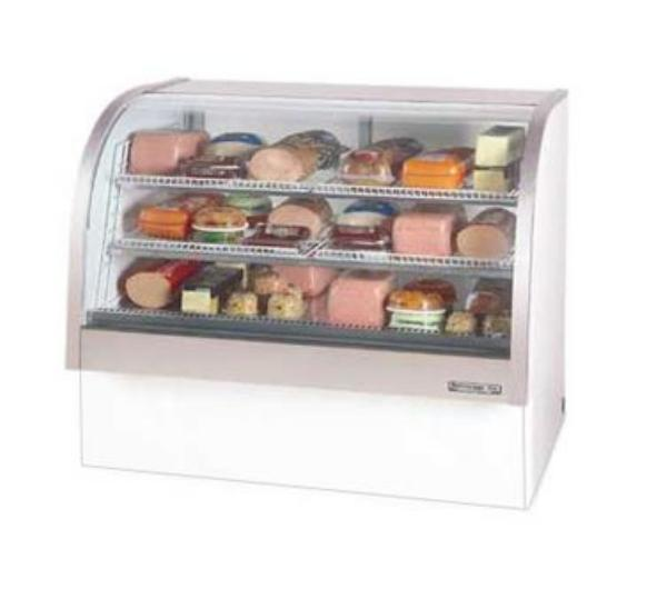 Beverage Air CDR4/1-B-20 49-in Refrigerated Display Case w/ Curved Glass Front, Black