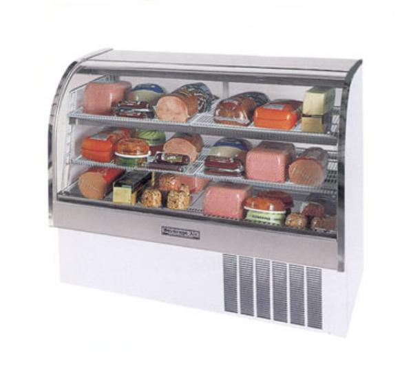 Beverage Air CDR6/1-S-20 73-in Refrigerated Display Case w/ Curved Glass Front, Stainless