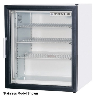 Beverage Air CF3-1-B Countertop Freezer Display w/ Glass Hinged Door, Black Steel, 3-cu ft
