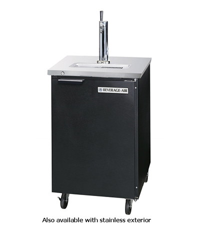 Beverage Air DD36-1-B 36-in Door-Type Draft Beer Cooler w/ Faucet & 3-in Tower, Black