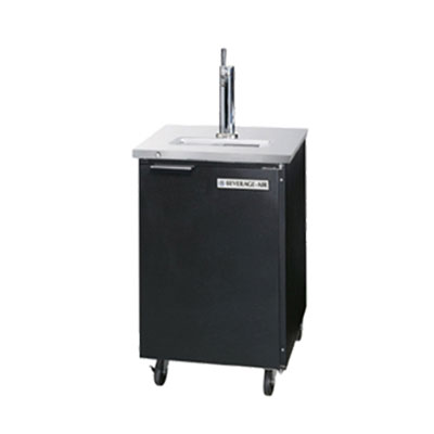 "Beverage Air DD36-1-B 36"" Draft Beer System w/ (1.5) Keg Capacity - (1) Column, Black, 115v"