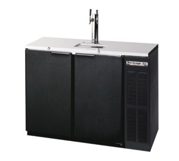 Beverage Air DD48-B 48 in Draft Beer Cooler, 2 Keg, Black
