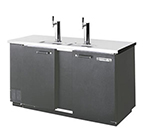 Beverage Air DD58-1-B 3-Keg Draft Beer Cooler w/ 1-Single & 1-Dual Faucet Column, Black
