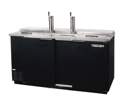 "Beverage Air DD58C-1-B 59"" Draft Beer System w/ (3) Keg Capacity - (2) Columns, Black, 115v"