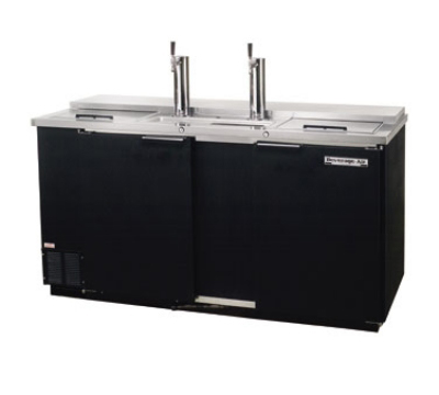 Beverage Air DD58R1B 59-in Draft Beer Cooler w/ 2-Doors & 3-Keg Capacity, Black