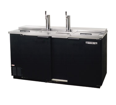 "Beverage Air DD68C-1-B 69"" Draft Beer System w/ (3) Keg Capacity - (2) Columns, Black, 115v"