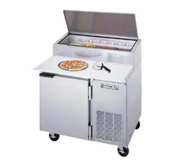 Beverage Air DP46 46 in Pizza Top Refrigerated Counter, 1 Section, 19 in Cutting Board