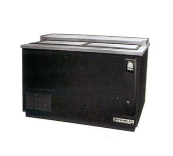 "Beverage Air DW64-B 65"" Forced Air 606-Capacity Bottle Cooler - Lid Locks, 115v"