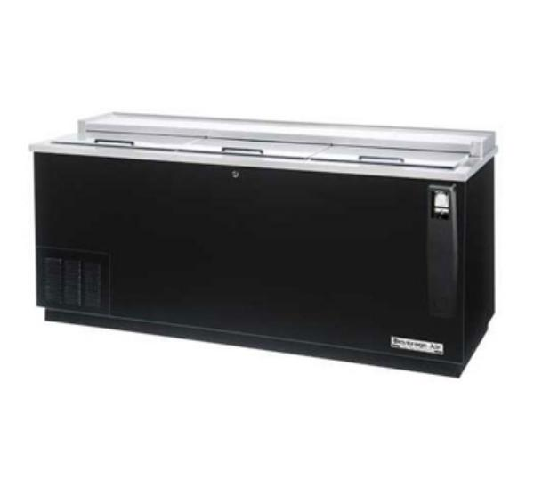 "Beverage Air DW79-B-29 80"" Frosty Brew Bottle Cooler - Flat Top, Sliding Doors"