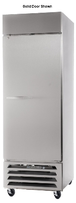 Beverage Air HBF27-1-G Bottom Mount Reach-In Freezer w/ 1-Glass Door, Digital, All Stainless, 27-cu ft