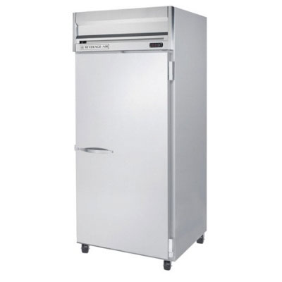 Beverage Air HRP1W1S Horizon Series Refrigerator, Right-Hinged Solid Door, Lock, 34-cu ft, Stainless