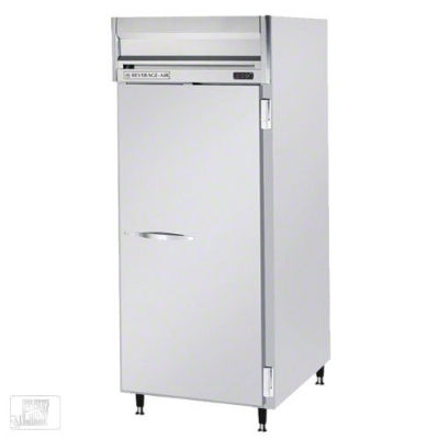 Beverage Air HRS1W-1S Top Mount Reach-In Refrigerator w/ 1-Section & 1-Solid Door, 3-Shelf, 34-cu ft