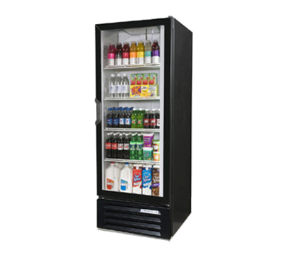 Beverage Air LV121B 1-Section Glass Door Merchandiser, Swing Door, Black, 11.12-cu ft