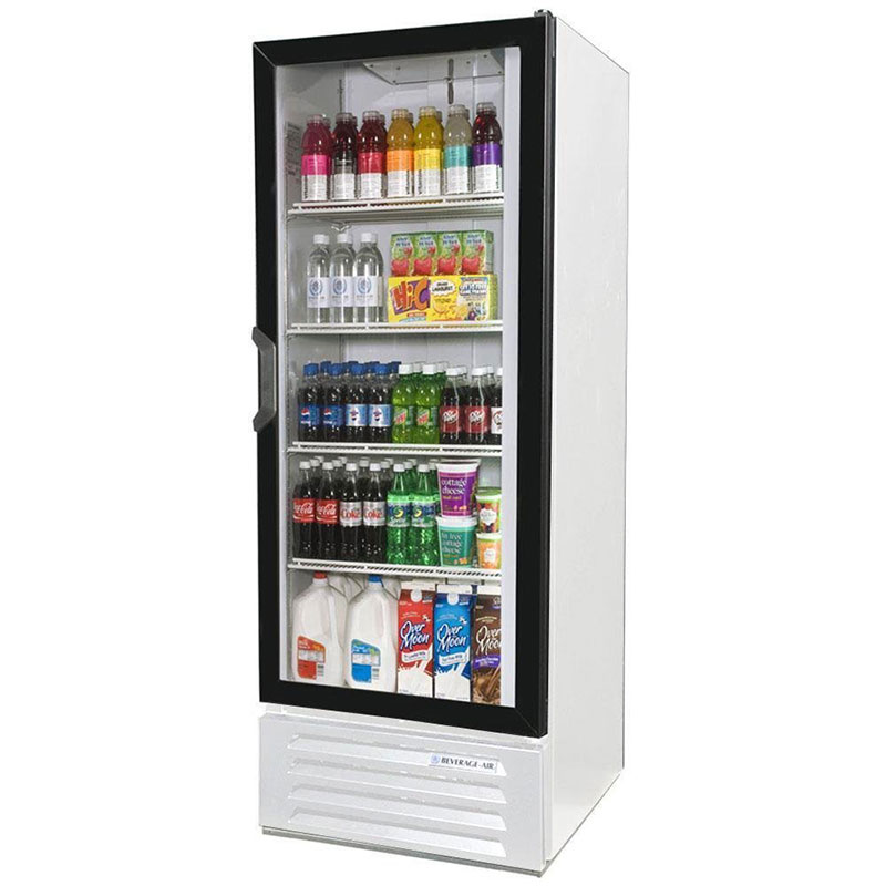 Beverage Air LV12-1-W Refrigerated Display Merchandiser w/ 1-Self Closing Door, White, 12-cu ft