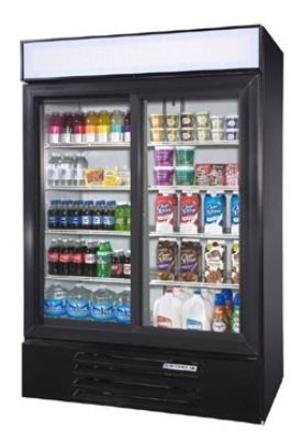 Beverage Air LV491W Refrigerated Merchandiser w/ 2-Sections & 2-Glass Doors,