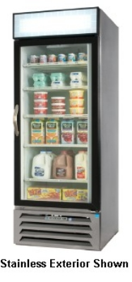 Beverage Air MMF27-1-W-LED Display Freezer Merchandiser, LED, 1-Self Closing Door, Digital, White, 27-cu ft