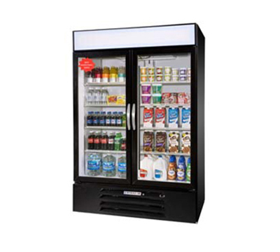 "Beverage Air MMF44-1-B 47"" Two-Section Refrigerated Display w/ S"