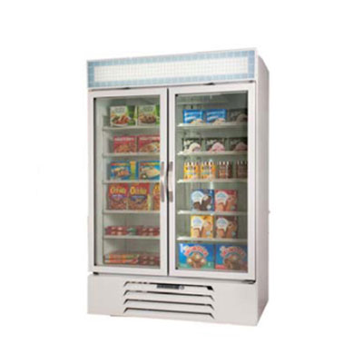 Beverage Air MMF44-1-W Refrigerated Merchandiser w/ 2-Triple Pane Glass Door, Electronic Control, White, 45-cu ft