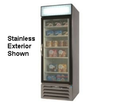 Beverage Air MMR27-1-B Refrigerated Display Merchandiser, 1-Self Closing Door, Digital, Black, 27-cu ft