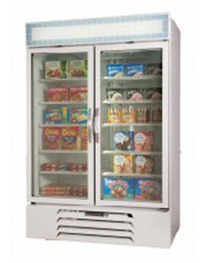 Beverage Air MMR44-1-W-LED Refrigerated Merchandiser w/ 2-Double Pane Glass Doors & LED Lighting, White, 45-cu ft