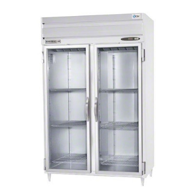 "Beverage Air PRD2-1BG 52"" Two Section Pass Thru Reach-In Refrigerator, (4) Solid Door, 115v"