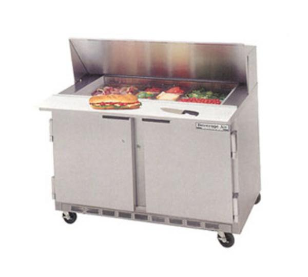 Beverage Air SPE4808C 48 in Elite Series Sandwich Top Refrigerated Counter, 2 Section, 8 Pan