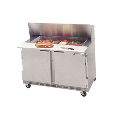 Beverage Air SPE4808 48 in Elite Series Sandwich Top Refrigerated Counter, 2 Section, 8 Pan
