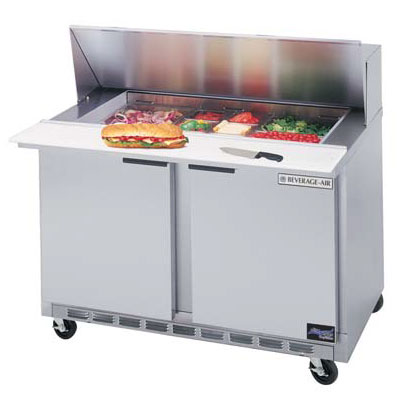 Beverage Air SPE4810 48-in Sandwich Top Refrigerated Counter w/ 10-Pan Openings