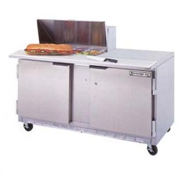 Beverage Air SPE60-08 60-in Sandwich Top Refrigerated Counter w/ 8-Pan Openings