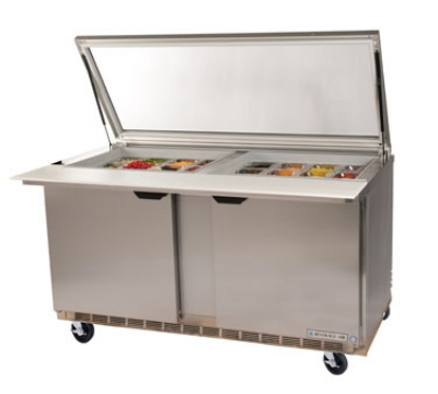 "Beverage Air SPE6024MSTL 60"" Sandwich/Salad Prep Table w/ Refrigerated Base, 115v"