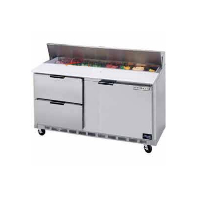 "Beverage Air SPED72-30M-2 72"" Sandwich/Salad Prep Table w/ Refrigerated Base, 115v"