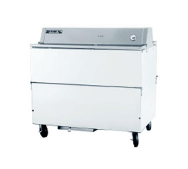 Beverage Air STF49-1-W 49-in Dual Access Milk Cooler, Galvanized Interior, (1280) 1/2-pt