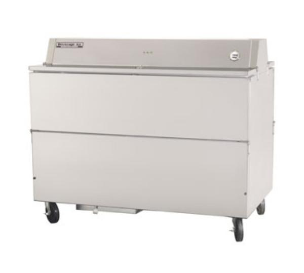 Beverage Air STF58-1-S 58 in School Milk Cooler, Forced Air, Dual Access, SS, (1539) 1/2 pts