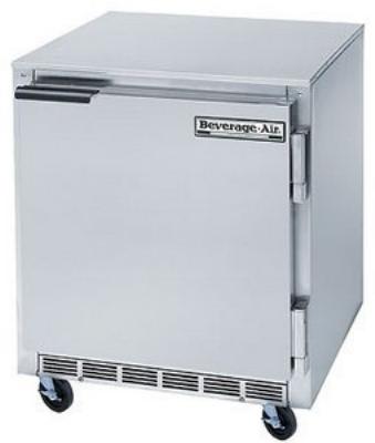 Beverage Air UCF27-23 27-in Shallow Undercounter Freezer, 1-Door, Stainless Exterior, 6.2-cu ft