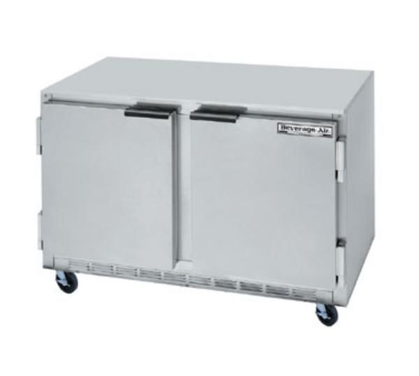 Beverage Air UCF48A 48 in Undercounter Freezer, 2 Section/Door, 1/3 HP