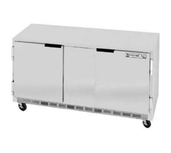 Beverage Air UCR60A 60 in Undercounter Refrigerator, 2 Section/Door, 1/4 HP