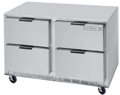 Beverage Air UCRD48A4 48-in Undercounter Refrigerator w/ 4-Drawer & 2-Section, 13.9-cu ft