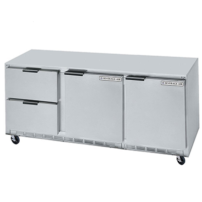 Beverage Air UCRD72A2 21.5-cu ft Undercounter Refrigerator w/ (3)