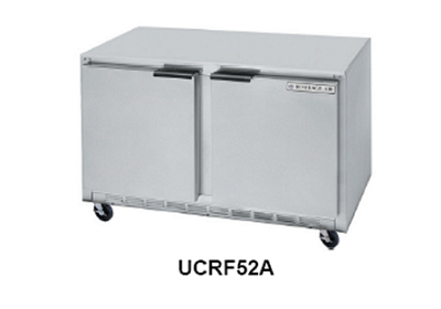 Beverage Air UCRF52A 52-in Undercounter Dual Temp Refrigerator Freezer w/ 2-Door & 4-Shelf, Stainless